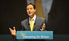 Nick Clegg at party conference