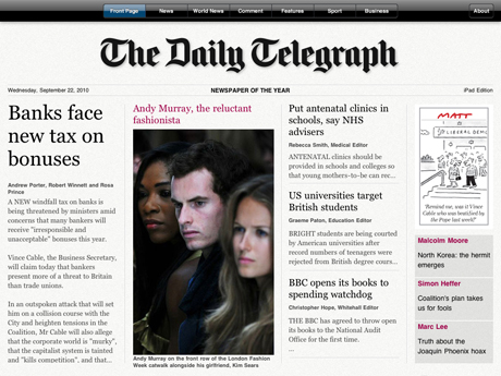 The Telegraph's new iPad app