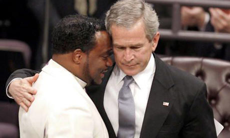 BIshop Eddie Long with President Bush