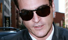 Joaquin Phoenix outside Late Show With David Letterman