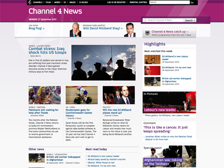 The new Channel 4 news website