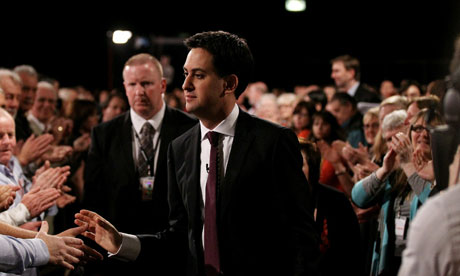 Ed Miliband leaves stage