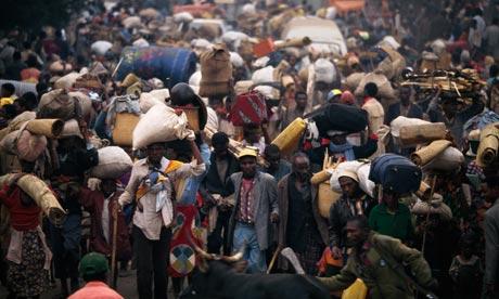 Rwandan refugees in Zaire, 1994