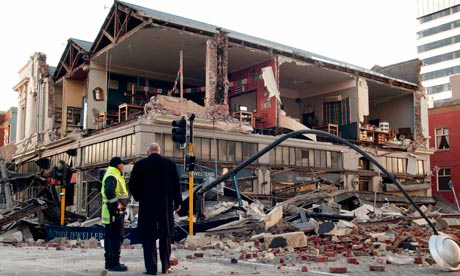 christchurch earthquake in new zealand. Earthquake damage in