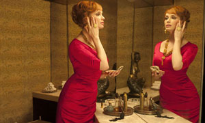 Christina Hendricks as Joan Harris in Mad Men, Series Four.