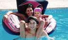 Rachel Edwards with daughter Isabella and son Jack on holiday in Cyprus last year