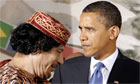 Barack Obama has demanded that Muammar Gaddafi halt all military attacks on Libyan civilians or face military action against him. But the president stressed the United States would not send ground troops into Libya based on the current UN security council resolution