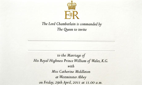 Royal wedding invite Royal wedding invitation