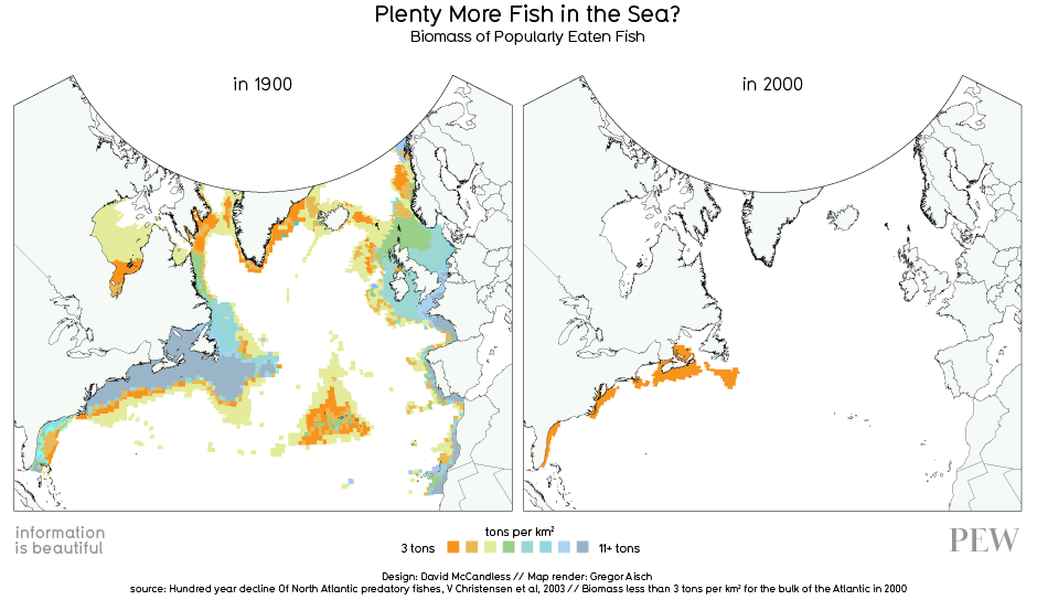 Information is Beautiful on vanishing fish stocks