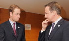 Prince William and David Cameron