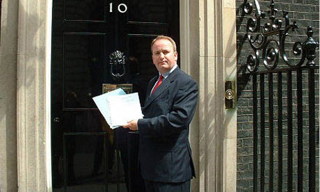 Tory MP, Mark Pritchard, pictured outside 10 Downing Street