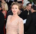 Scarlett Johansson at the Golden Globes on 16 January 2011.