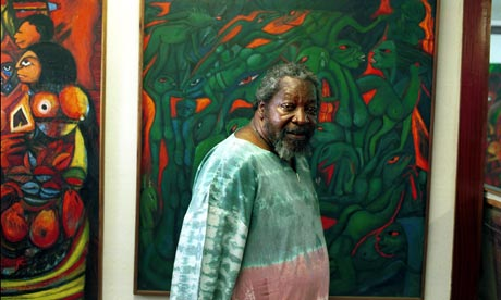 Malangatana at his home in Maputo, Mozambique, in 2005.