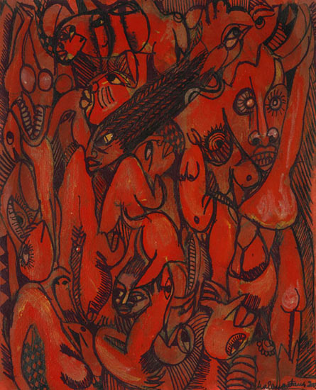 Women in Motion, 2003, by Malangatana Ngwenya