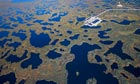 Oil platform on the Siberian tundra