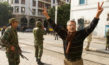 Unrest in Tunisia January 2011