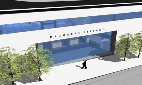 An artist's impression of the new Drumbrae library and community centre