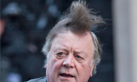 Ken Clarke's windswept look.