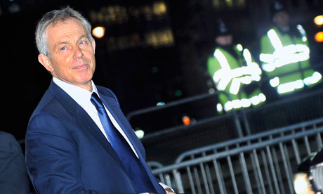 Tony Blair arrives at the Iraq inquiry on 21 January 2011.