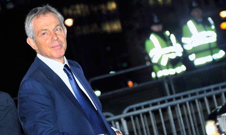 Tony Blair arrives at the Iraq inquiry on 21 January 2011.
