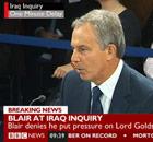 Tony Blair at the Iraq inquiry on 21 January 2011.