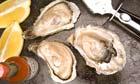 three fresh oysters