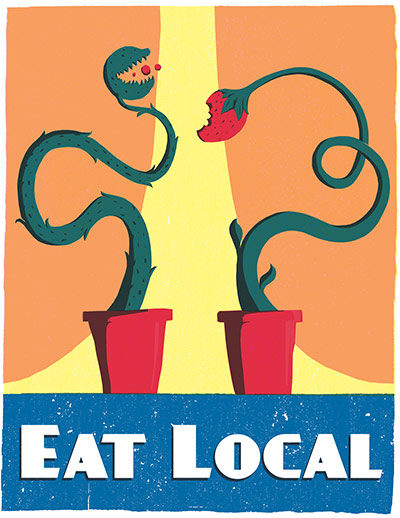 Green Patriot Posters: Ryan Dumas: Eat Local