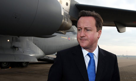David Cameron at Brize Norton