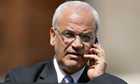Palestinian chief negotiator Saeb Erekat