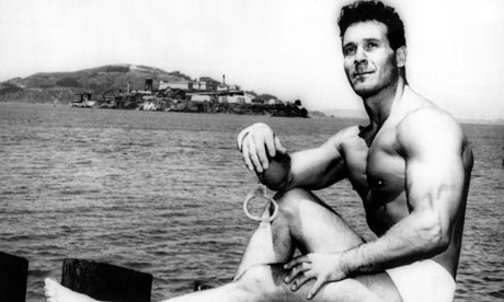 Jack Lalanne before handcuffed swim
