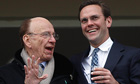 Rupert Murdoch with his son James