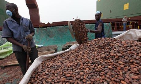 Cocoa at Abidjan