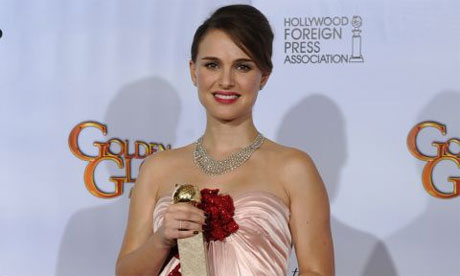 natalie portman golden globe video. Natalie Portman at the Golden
