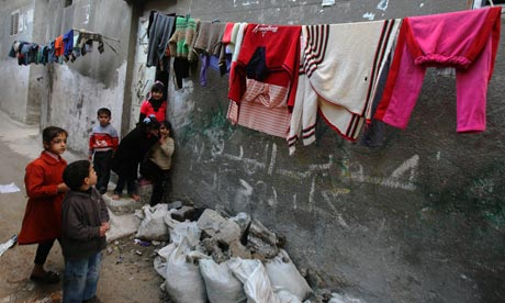 Refugee camp in Gaza