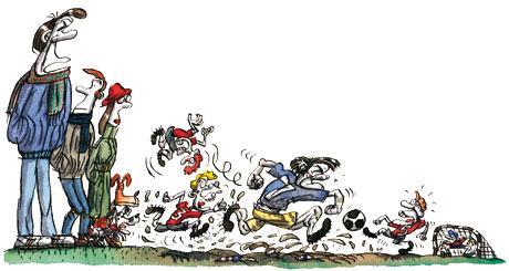 Tim Dowling illustration, football