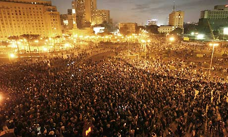Egyptian demonstrators mass in central Cairo