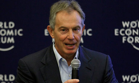 Tony Blair said the leak of the Palestine papers was 'destabilising'