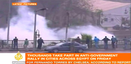 Tear gas in Cairo