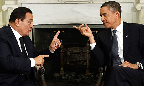 Hosni Mubarak and Barack Obama