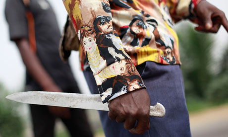 Rebel fighter Abidjan Ivory Coast