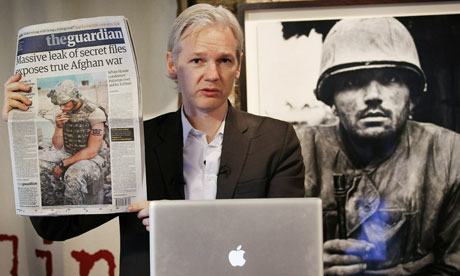 Julian Assange of WikiLeaks in July last year