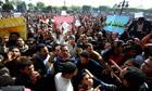 Protesters in Suez