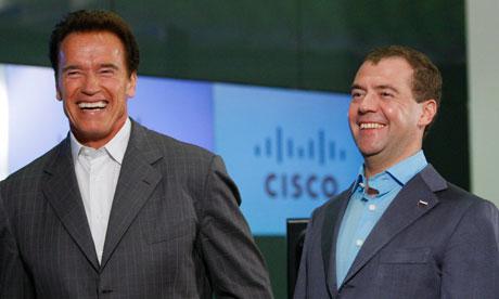 dmitry medvedev steve jobs. Dmitry Medvedev and Arnold
