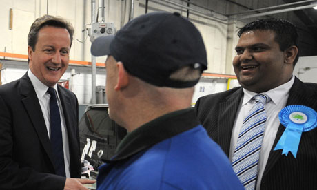 David Cameron visits the north-west