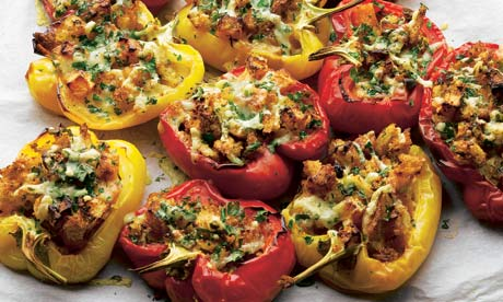 Stuffed peppers with fondant swede and gruyère