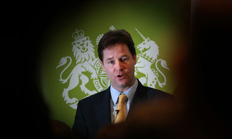Nick Clegg delivers a speech on civil liberties