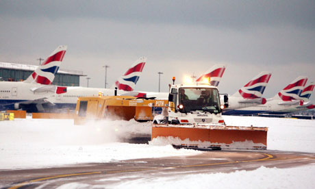 Cost of snow to BA