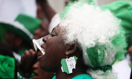 Woman in Nigeria's 51st independence anniversary