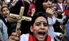 Egyptian Coptic Christian protest in Cairo