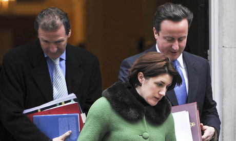 Gabby Bertin leaving 10 Downing Street with David Cameron
